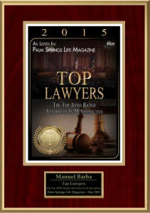 Top Lawyers Award for DUI in Riverside